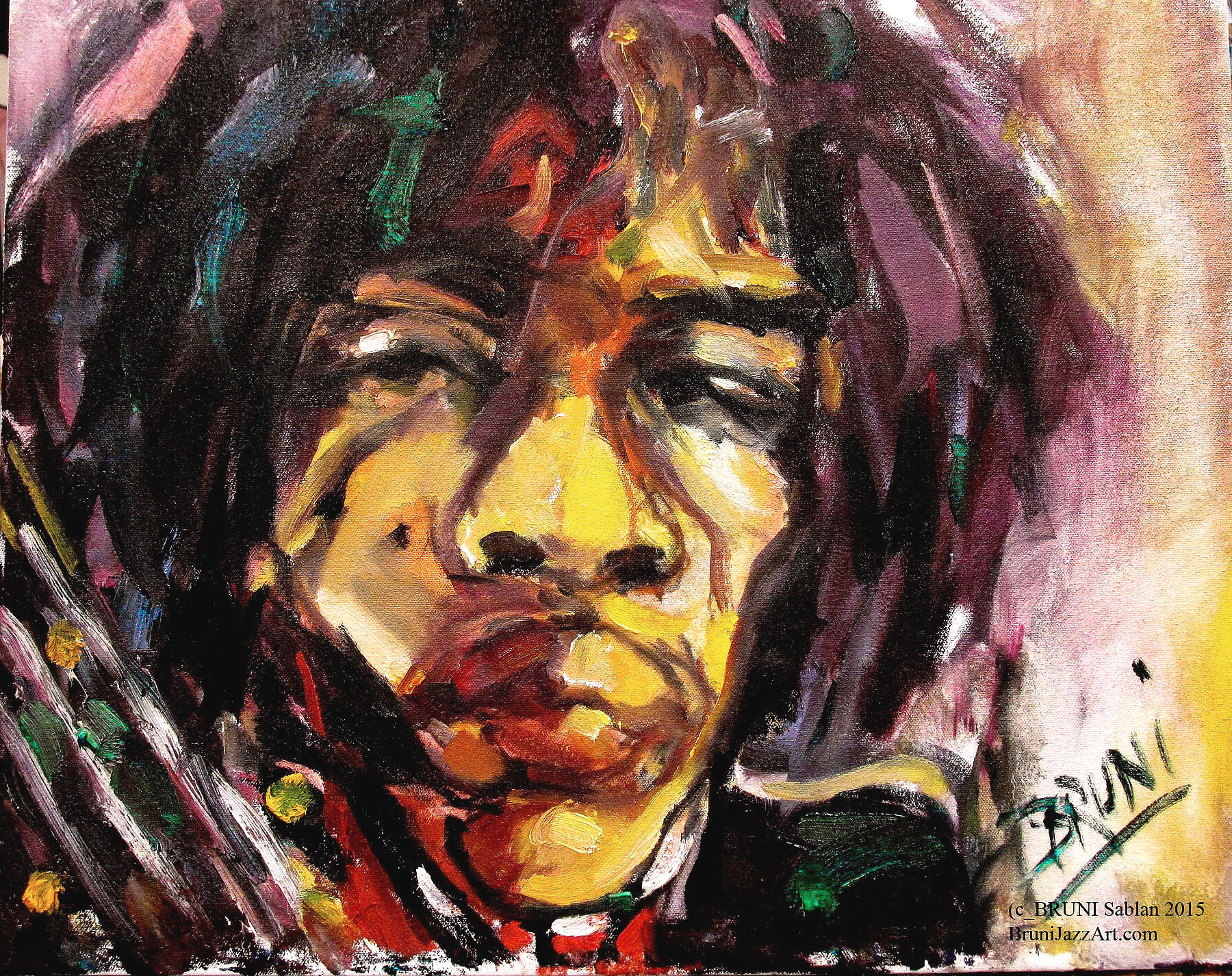 Jimi Hendrix by BRUNI