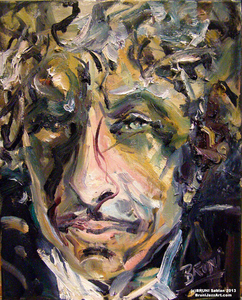 Bob Dylan Painting by BRUNI