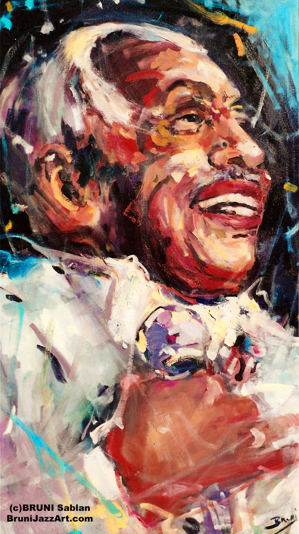 Cab Calloway Jazz Painting by BRUNI