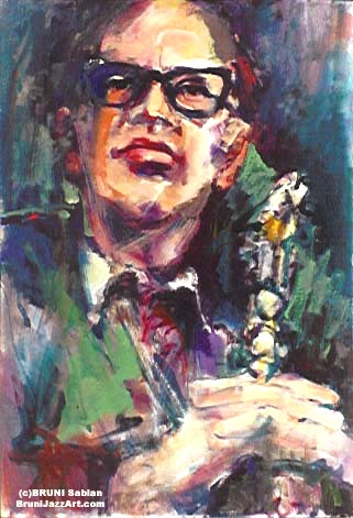 Paul Desmond Painting by BRUNI