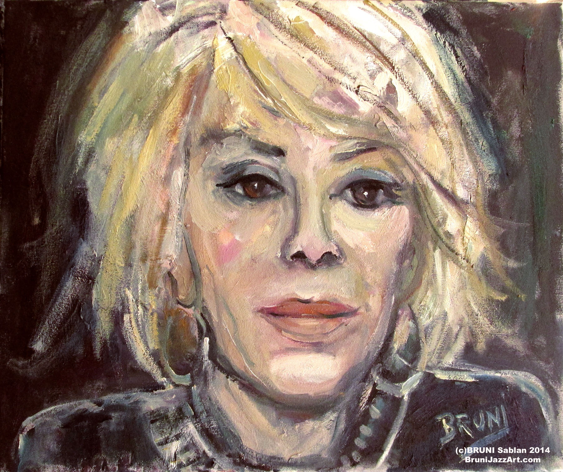 Joan Rivers Painting by BRUNI