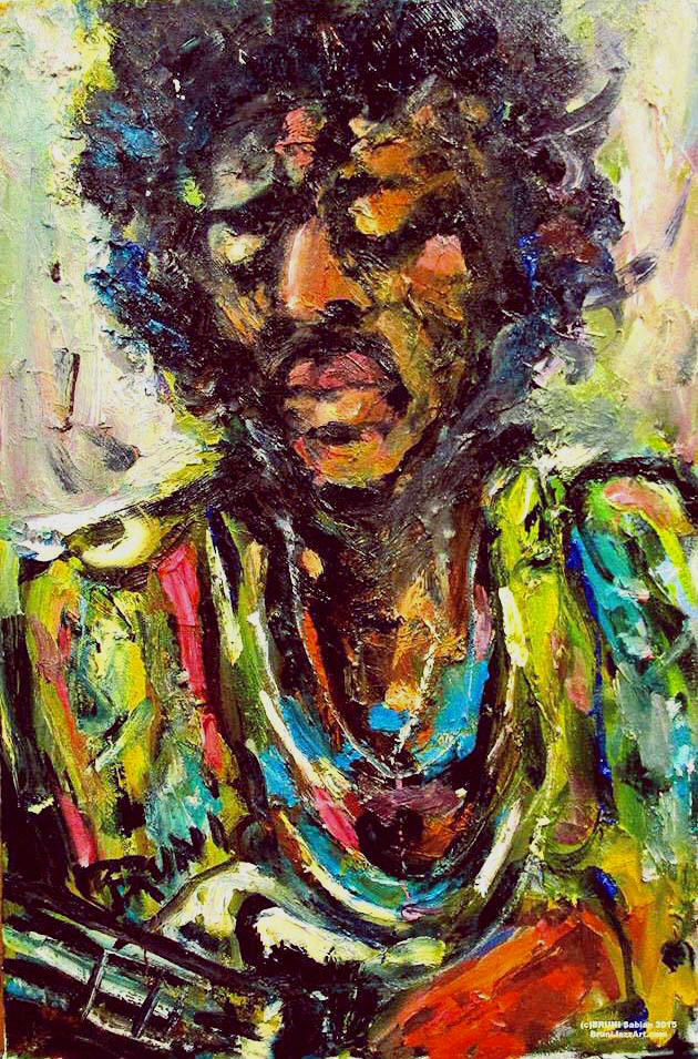 Jimi Hendrix Painting by BRUNI