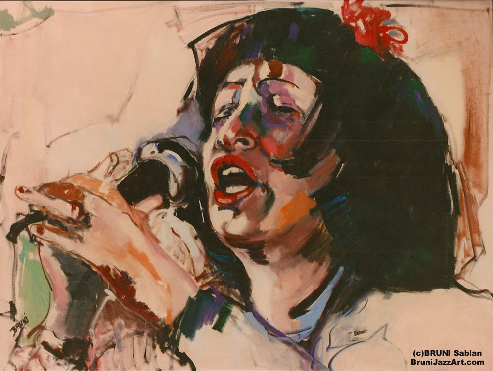 Sheila Jordan Painting by BRUNI