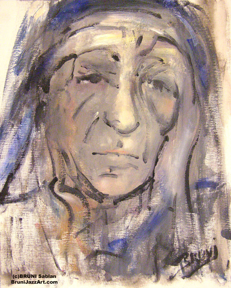 Mother Teresa Painting by BRUNI - Peace
