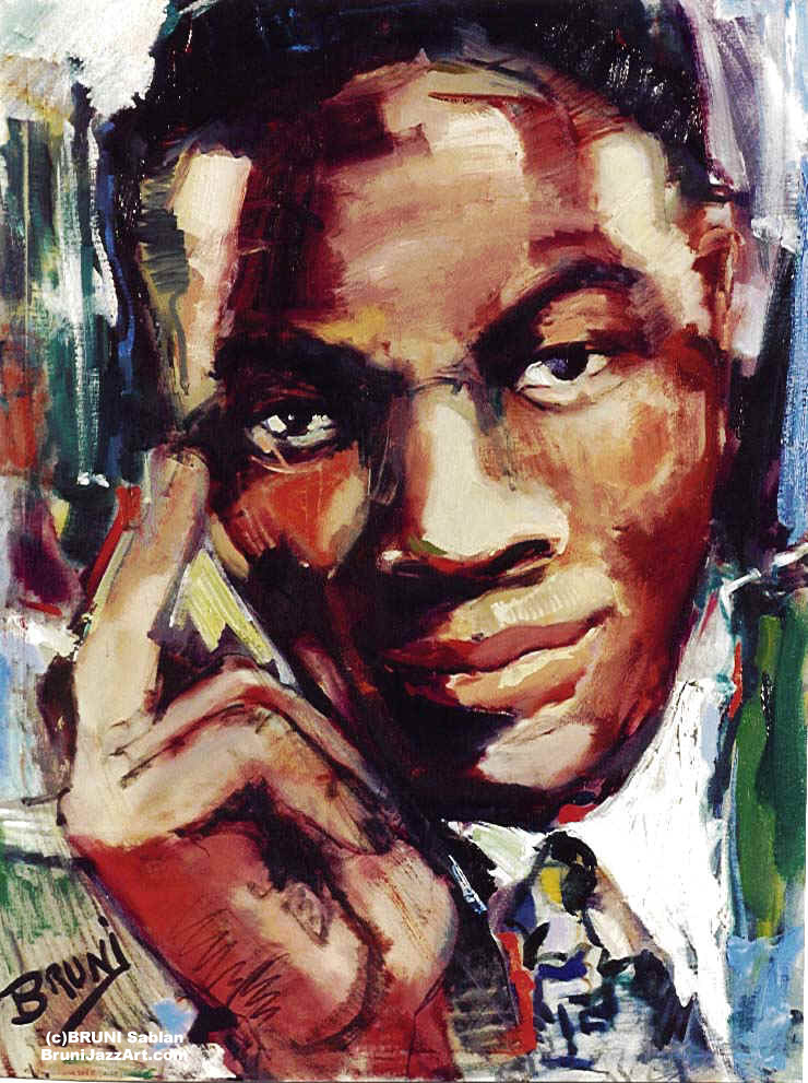 Nat Cole Painting by BRUNI
