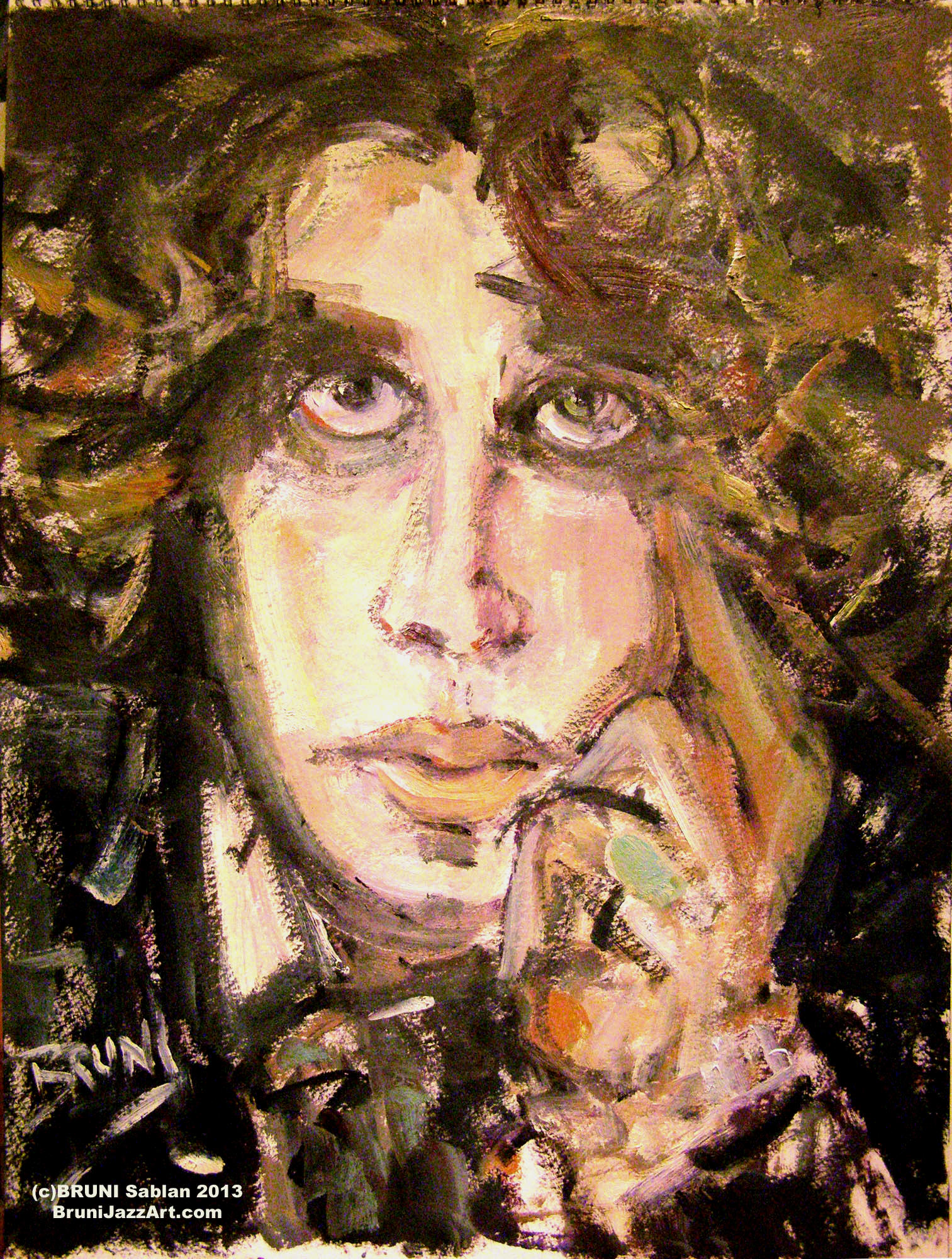Oscar Wilde Painting by BRUNI