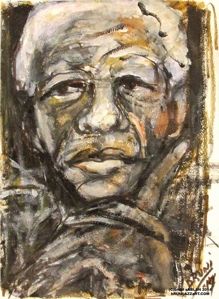 Nelson Mandela Artwork by BRUNI