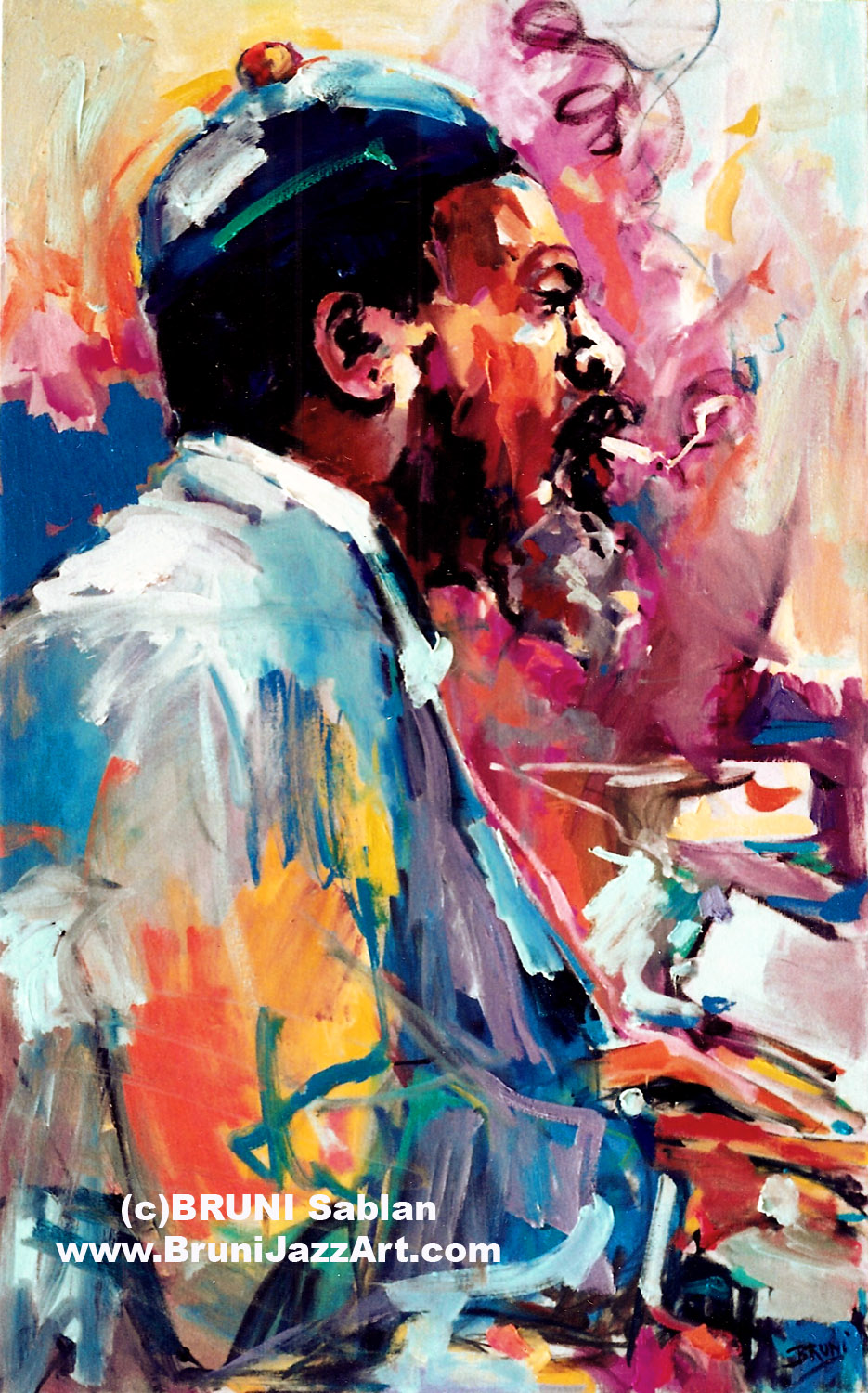 Thelonious Monk Lithograph by BRUNI