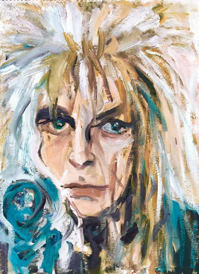 David Bowie Painting by BRUNI