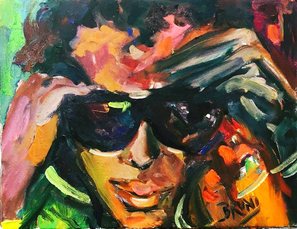 miles davis painting by bruni