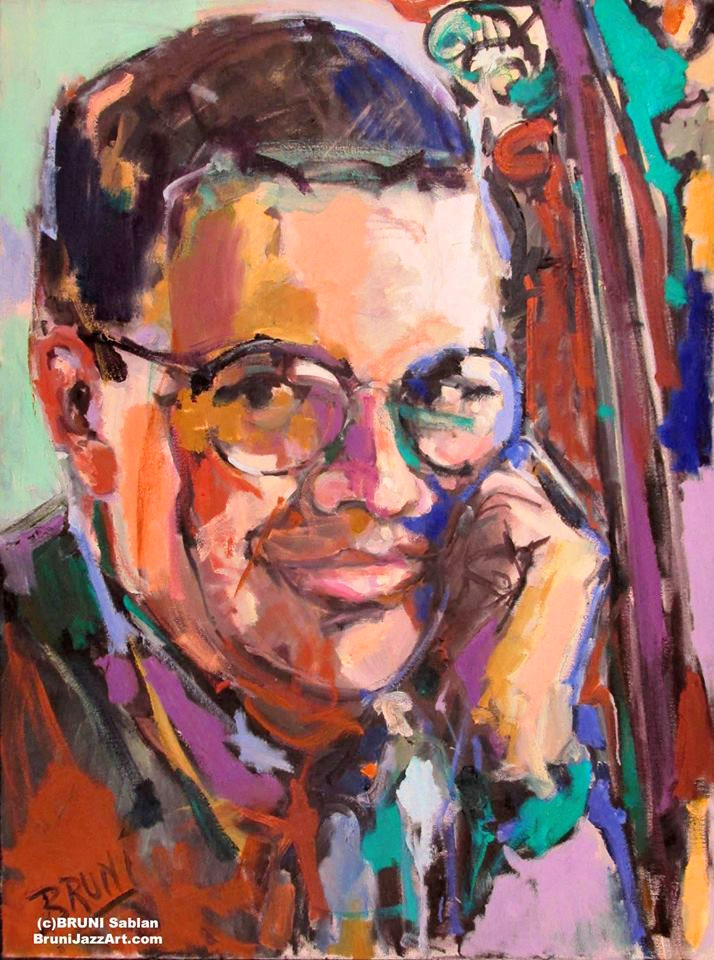 Charlie Haden Painting by BRUNI
