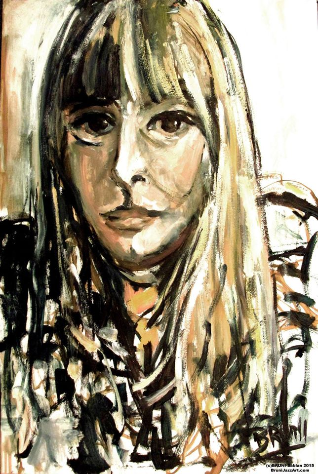 Joni Mitchell Painting by BRUNI